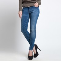Hot sale latest design plain denim skinny jeans pants for women