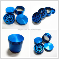 Hot Sales Colorful CNC Aluminum 4 Part Herb Grinder