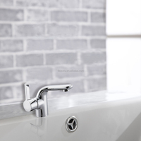 Deck Mounted Chrome Finished Durable Bathroom Faucet