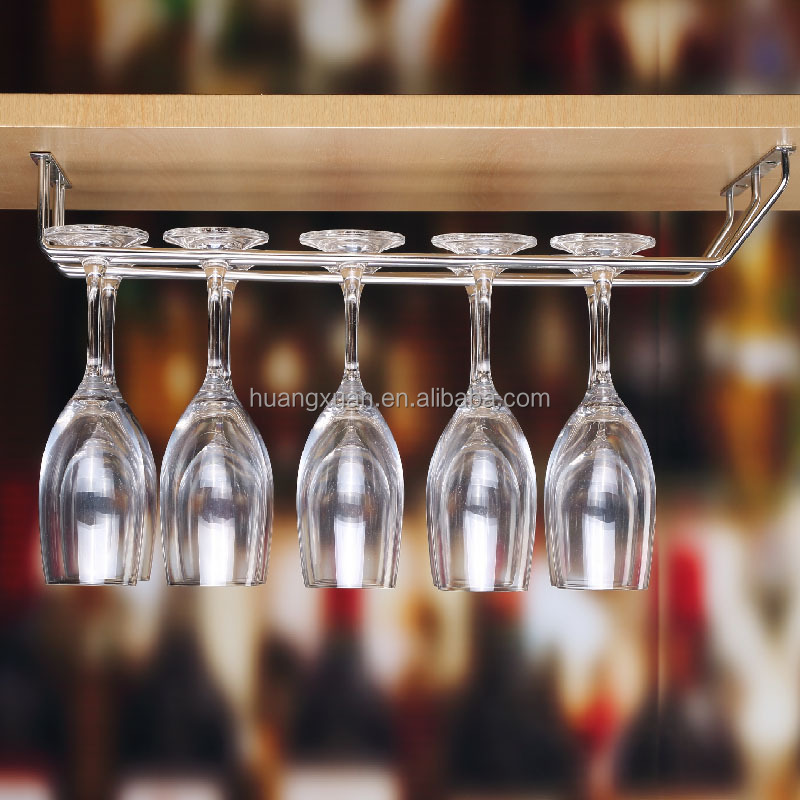 Durable Construction Hanging Wine Glass Rack