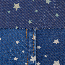 galaxy printed denim fabric for men shrit