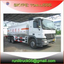 China fuel tnker truck mercedes benz supplier for mercedes benz actros 2636 6*4 oil truck 20m3 for sale