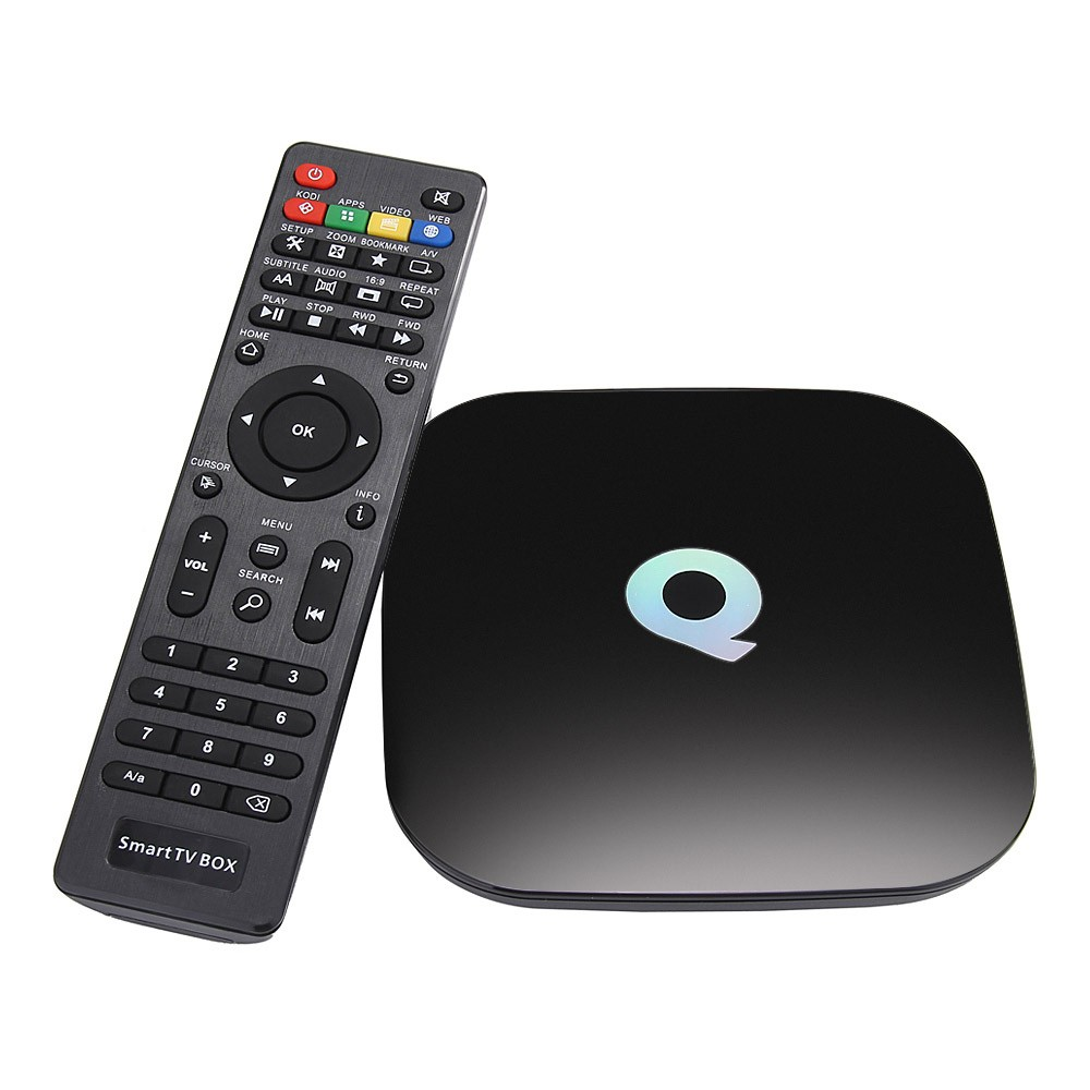 Original Q-box Amlogic S905 Android Tv Box 2G/16G USB HDD 1000M LAN Bluetooth 4.0 KODI 16.0 Pre-installed Media Streaming Box