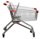 grocery personal shopping cart with baby seat