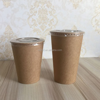 china wholesale kraft disposable paper soup salad bowl paper cup for coffee