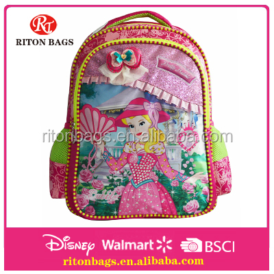Newest Elegent Princess School Backpack School Bags