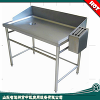 Stainless Steel Fish Cleaning Table Kitchen Sink Cabinets/Kitchen Sink Manufacturing Machine/Sink Table