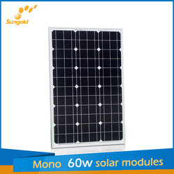 Hot solar panel 60W 18V from Sungold in China