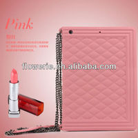 FL3340 2014 high quality handbag stylce soft 3d silicone case for apple ipad air 5