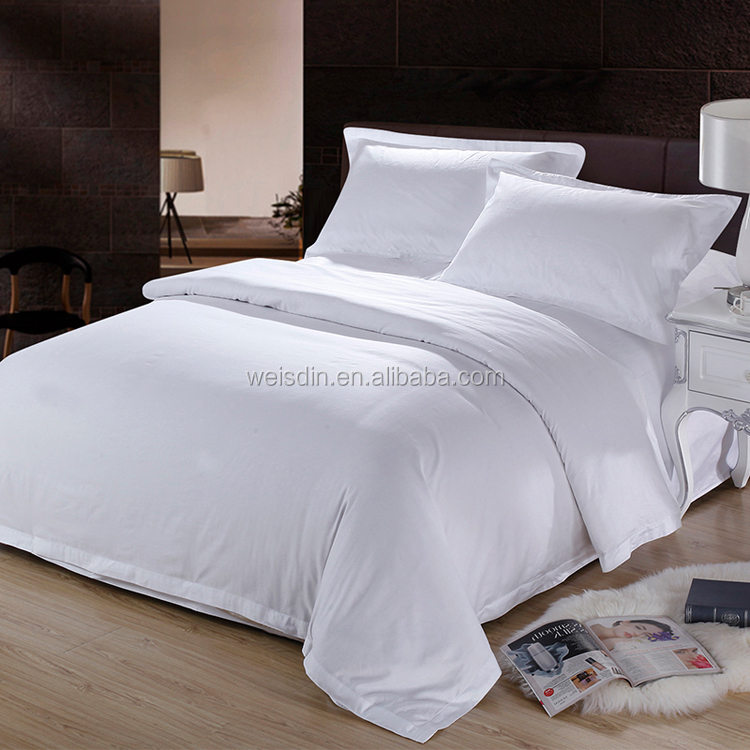 Woven Wholesale Plain Hotel Used Bedding Products/hotel Duvet Cover Bed  Sheet Pillowcase