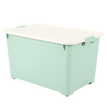 Household multipurpose plastic storage box container can for bedroom with wheels