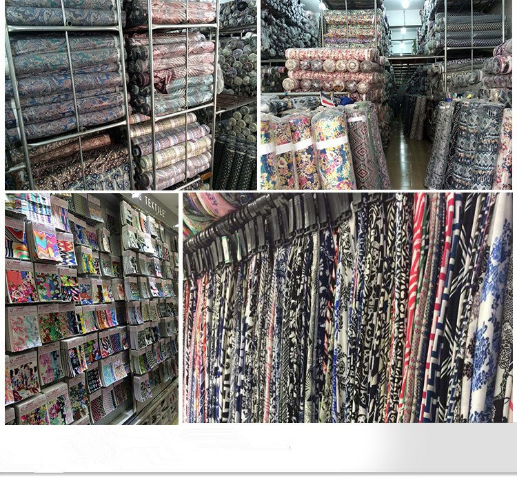 Factory production of polyester and printed fabric for curtain/hometextile