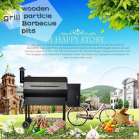 High-quality stainless steel paint wood pellet barbecue grill