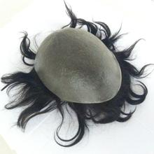 Hot sale natural human hair toupee hair for mens toupee with black hair