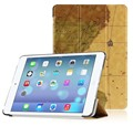 Map Pattern Ultra Slim Pu Leather With Auto Sleep Wake Case Cover For iPad Air 2