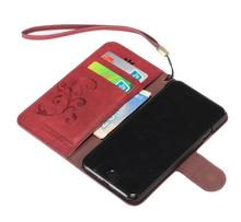 card slot flip leather case for iphone 5