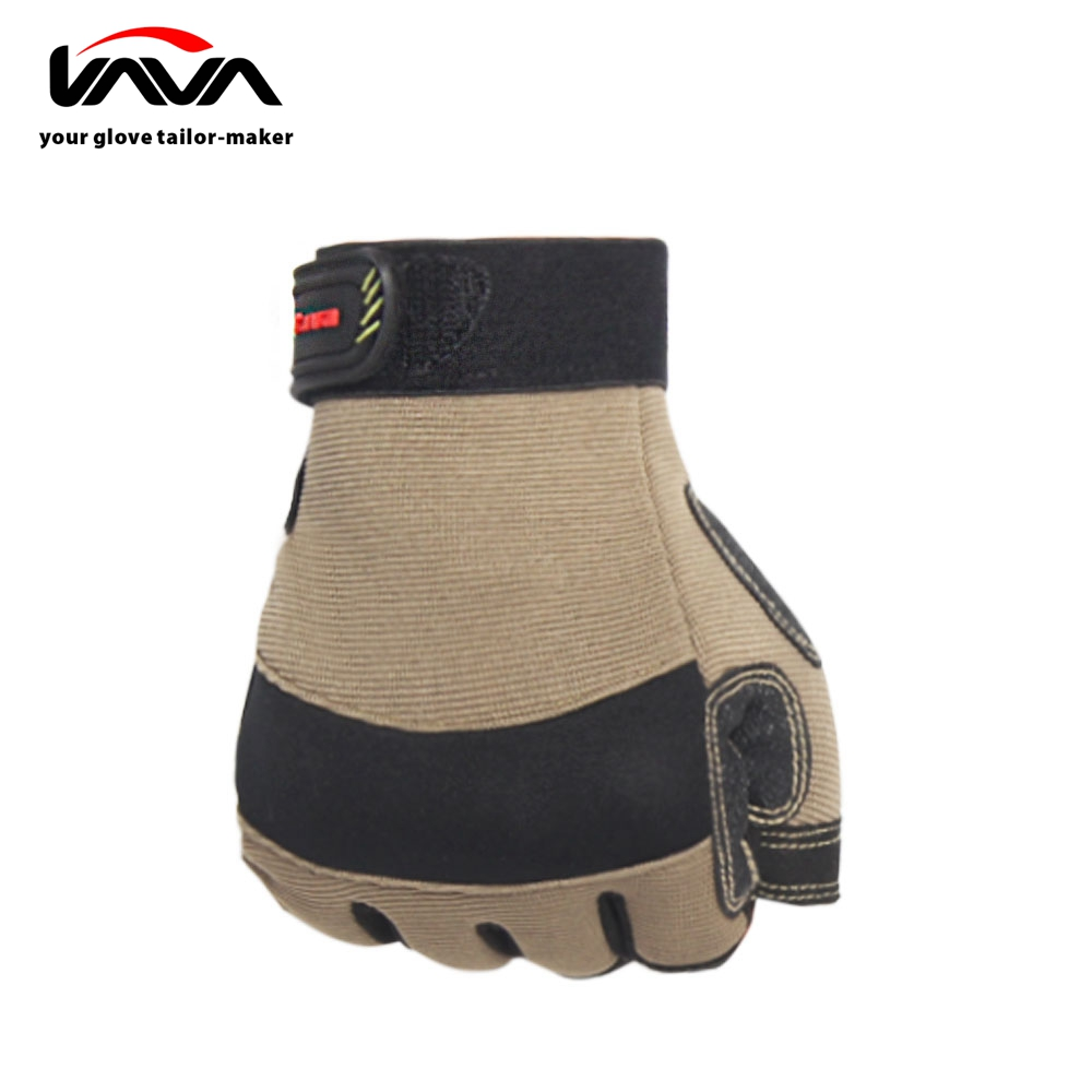 Durable Fingerless Design Safety Kevlar Gloves
