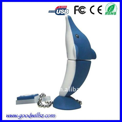 Gift usb Series of Fashion Dolphin USB 2.0 for Promotion