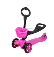 New design 3 in 1 Special baby Scooter with adjustable Seat/ Mini Kids 3 wheels Scooter