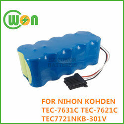 Defibrillator Battery for Nihon Kohden TEC-7631 Battery for TEC-7621,TEC-7621C, TEC-7600,TEC-7700 replacement Battery