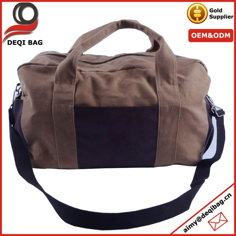 Retro Canvas Leather Duffel Bag Gym bags for men shoulder travel bag