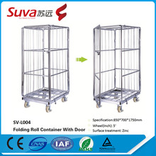 storage container big wheel trolley to transport goods warehouse roll cages