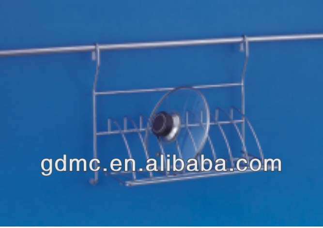 Chrome plated Metal wire pot Cover shelf