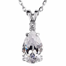 2017 cheap women custom crystal pendant jewelry fashion necklace