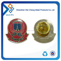 high quality gold round badge lapel pin for promotion