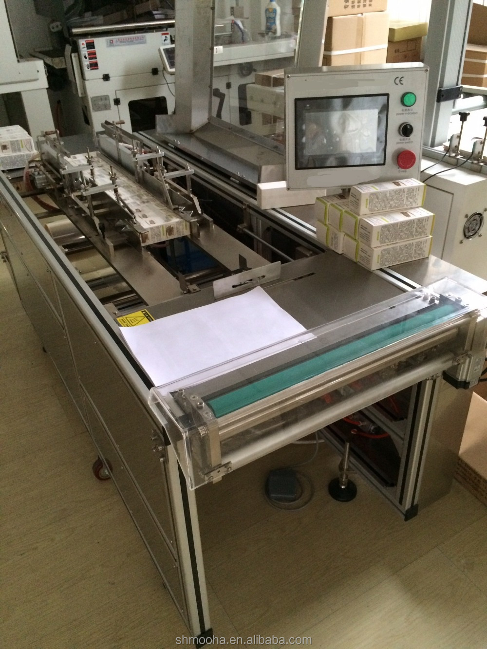different carton box cellophane overwrapping packaging machine
