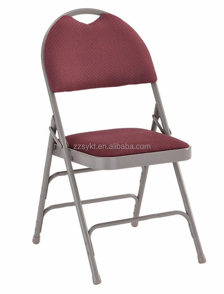 Living room metal padded folding chairs with carry handle wholesale