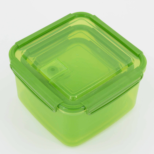 Eco-friendly Dinnerware Set 3 Sizes Plastic Refrigerated Containers Square