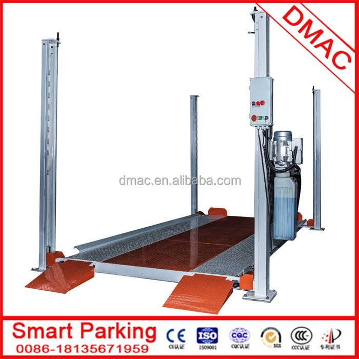2 floor lift slide automated smart hotel car parking system