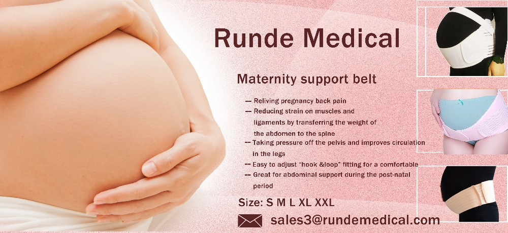Runde Medical Maternity support belt pregnancy belly band back pain brace pregnancy support belt with CE approved