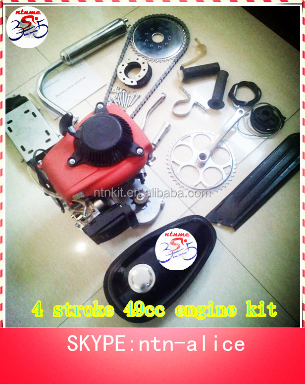 Air cooling engine,gasoline engine kit for bicycle,49cc engine kit from factory