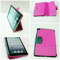 Stand Leather Case for iPad Mini Lychee Grain -Pink