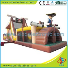 Professional made kids plastic castle playground pirates