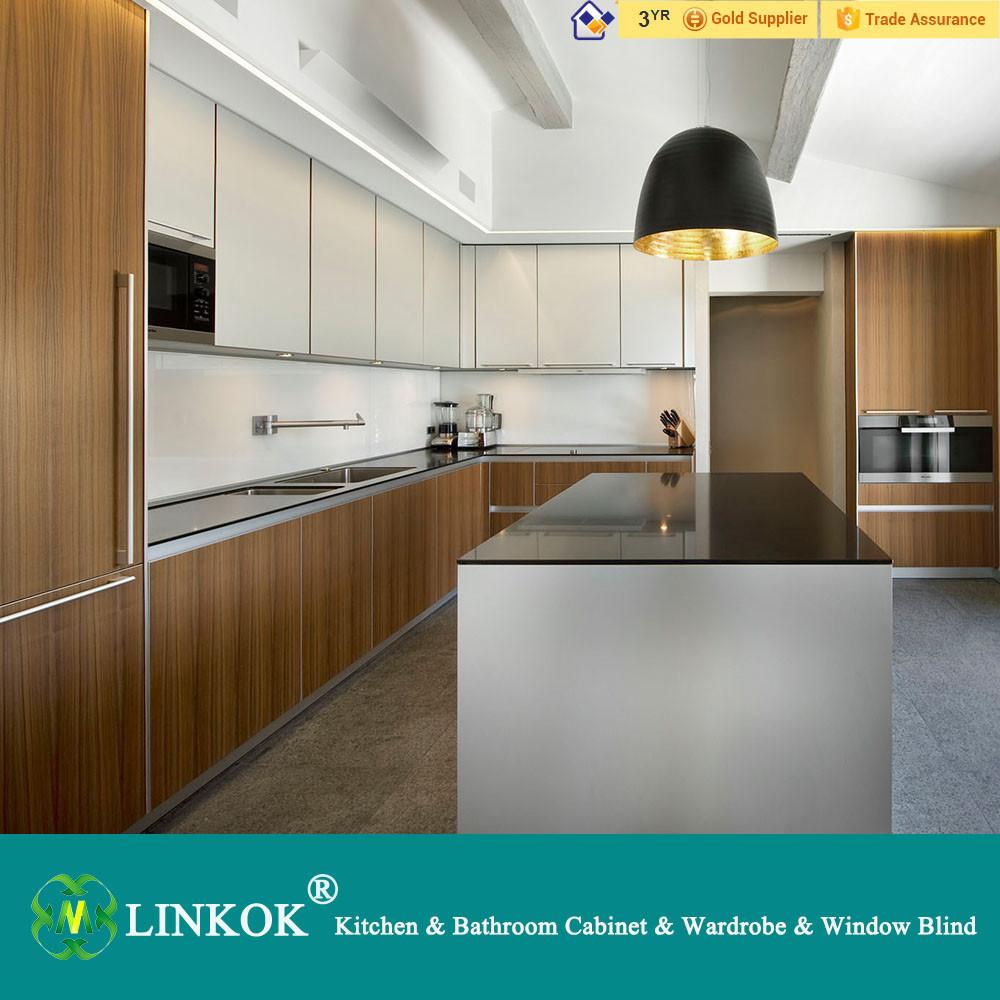 New Design Apartment Kitchen Cabinet Morden Open Aluminium
