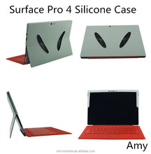 Custom Fold Stand Flip Silicone case cover for Surface Pro 4 Tablet PC With good handing feeling sleeve