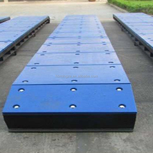 UHMWPE dock fender face panel with drilling <strong>holes</strong>