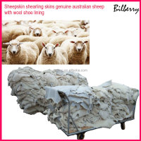 Sheepskin shearling skins genuine australian sheep with wool sheepskin for shoe lining