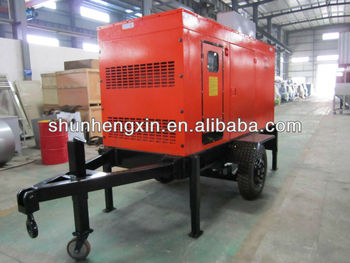 wheel-mounted (trailer mounted) mobile silent diesel generator set
