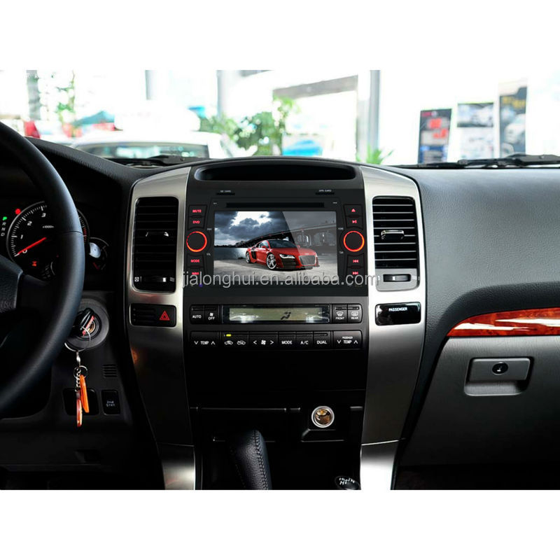 Android 4.4 Digital Touch Screen Double Din Car DVD For TOYOTA PRADO GPS+CANBUS CarRadio+WIFI+BT+USB/SD+AUX+SWC+MIC+9light color