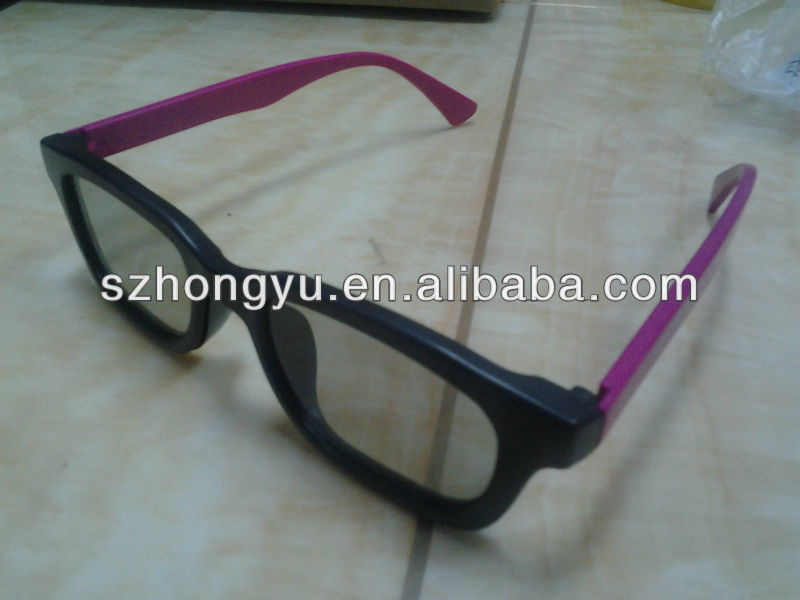 good quality passive RealD cinema 3D movie circular polarized glasses