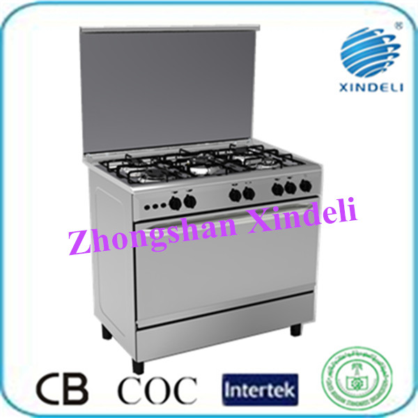gas electric cooker 5 burner gas stove restaurant use kitchen appliance
