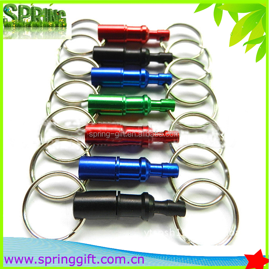 new colour keychain fancy key chain, double metal keyring