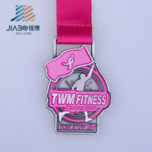 Free sample casting gold silver bronze sports marathon custom running medals trophies