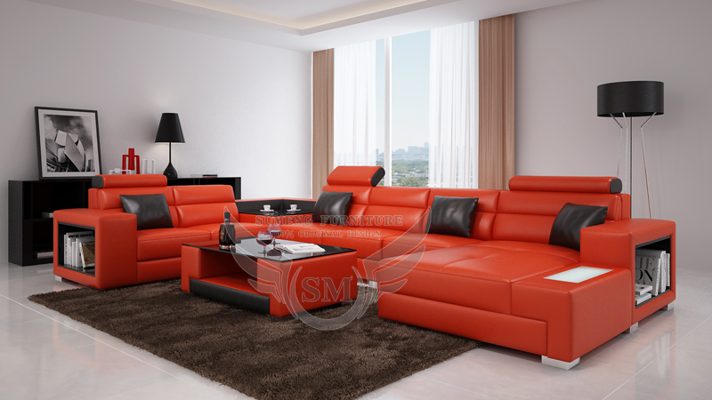 Low moq orange living room sofa set sofa set living room for Low living room furniture