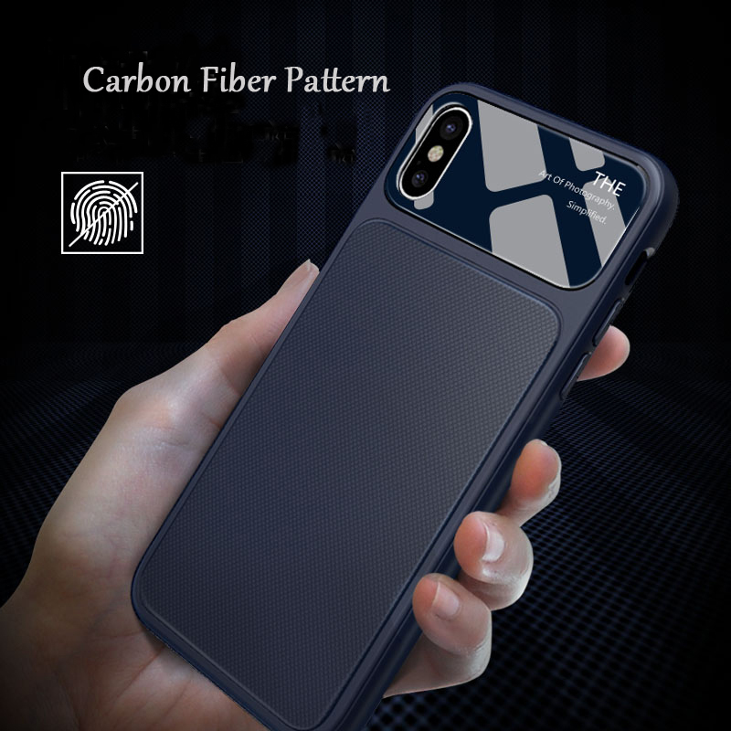 Environmental Protection 2018 Mobile Phone <strong>Accessories</strong> For iphone x Carbon Fiber Pattern Cell Phone Case