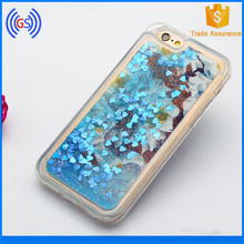 Wholesale Phone Base Glittering Mobile Phone Cover Soft TPU Liquid Phone Case for iphone